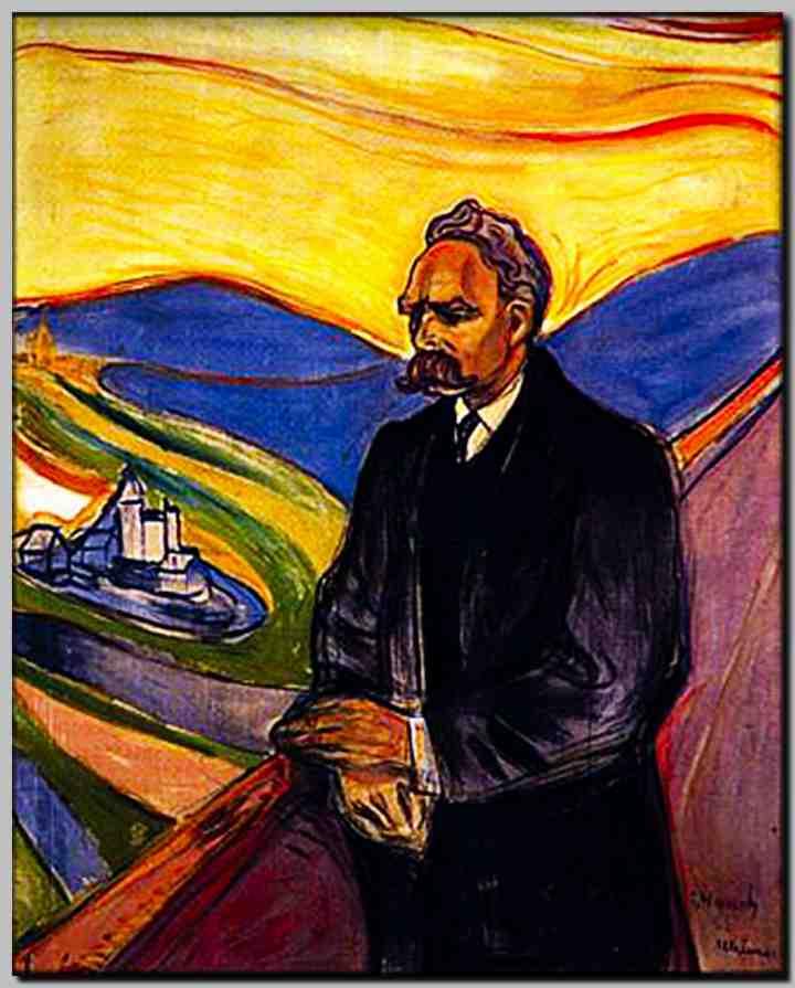 Edvard Munchs porträtt av filosofen Friedrich Nietzsche (1906)